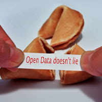 fortune cookie saying ''Open Data doesn't lie''