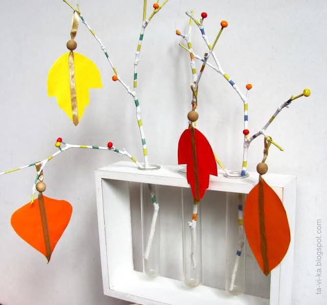 осенняя поделка украшение интерьера autumn craft