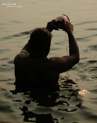 "Ganga Namaskar clicked by Isha Trivedi in Varanasi ""Isha Trivedi"" ""Varanasi"""