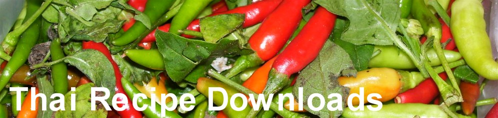 Thai Recipe Downloads