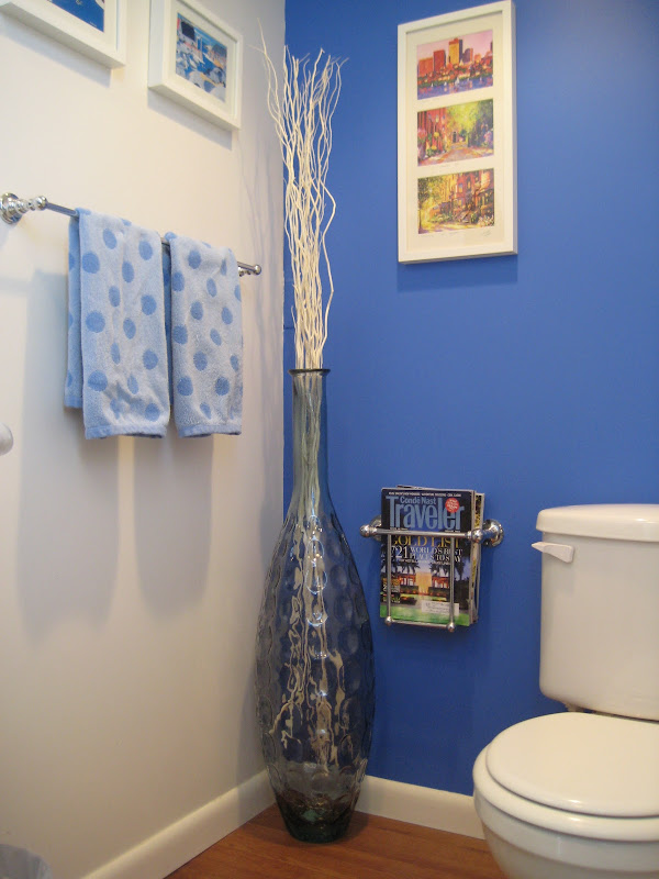Bathroom Blue Accent Wall Paint