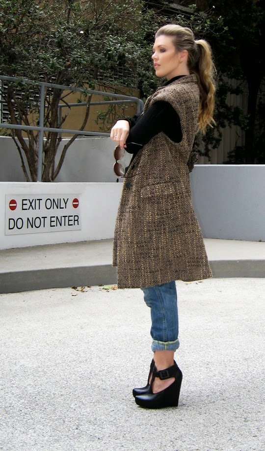 Как сшить жилет из старого пальто