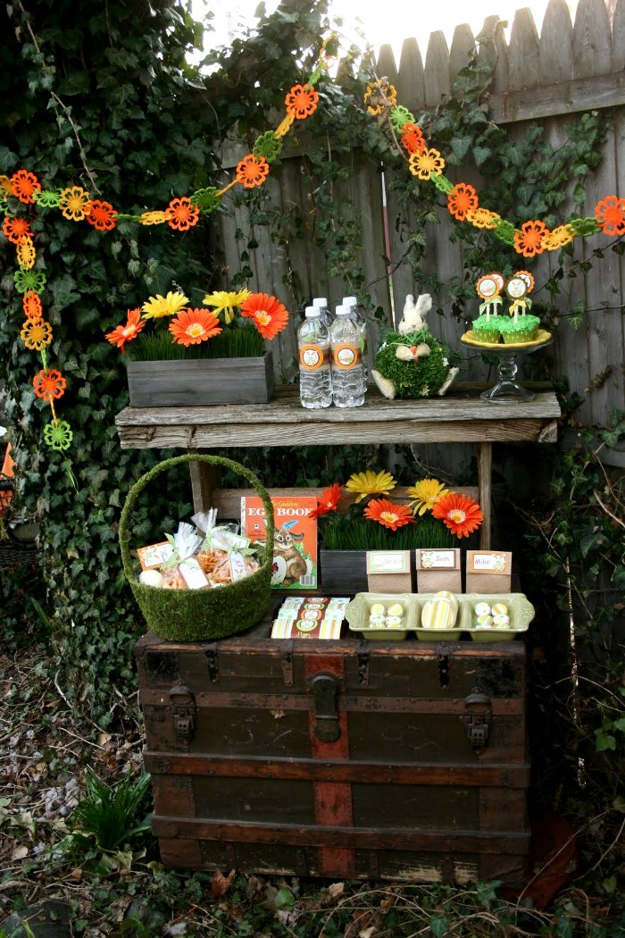 Easter Party Ideas: Peter Cottontail's Secret Garden Inspired Party DIY Decor