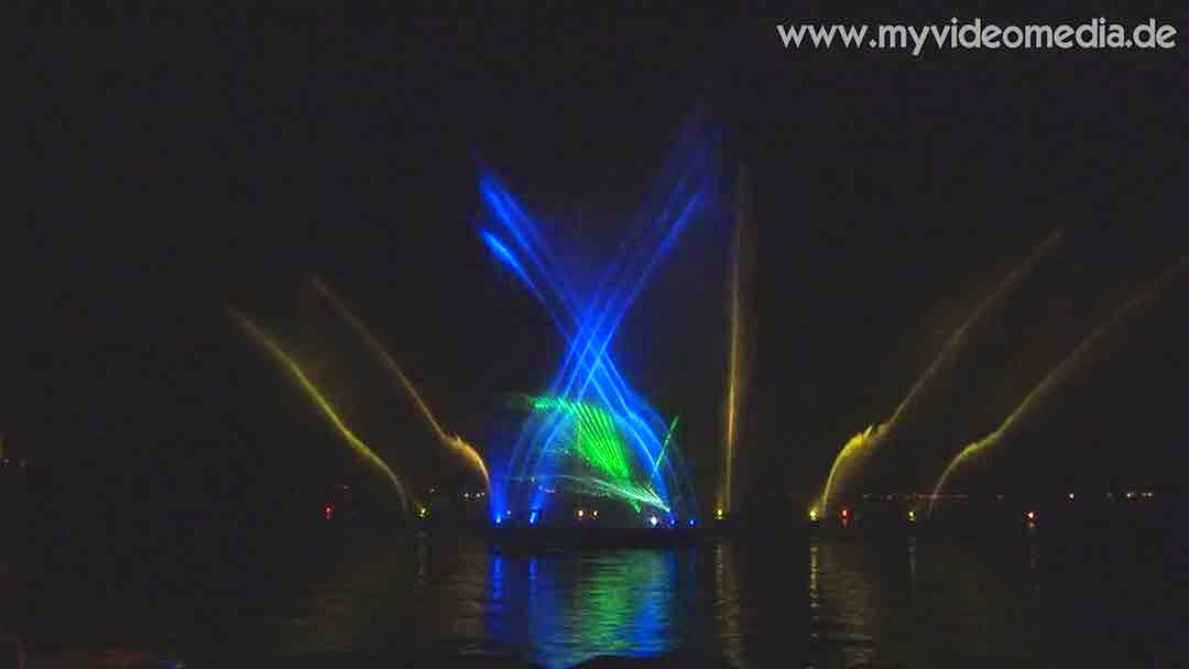 light and water show Velden - Austria