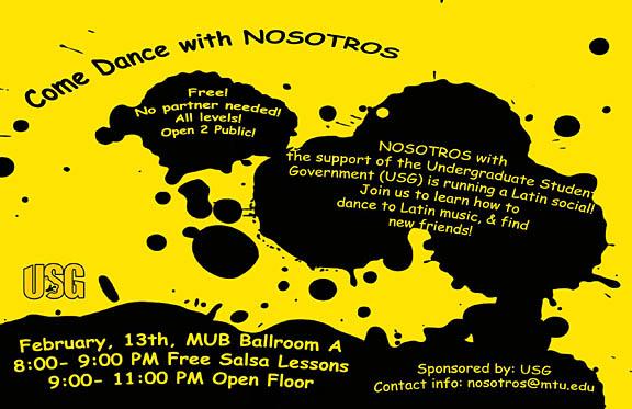Nosotros Dance Tonight, Feb. 13