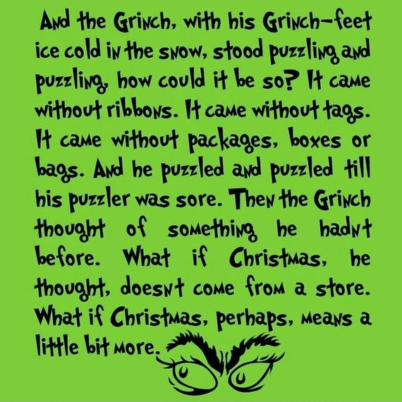 grinchtext Weight Loss Recipes How the Grinch Stole Christmas Feast
