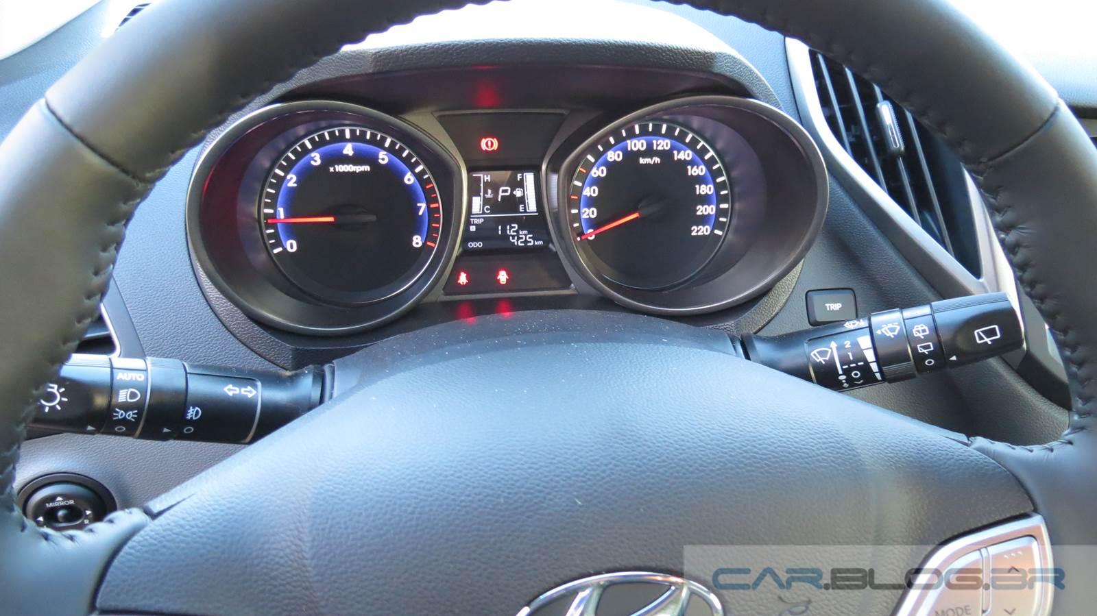 Hyundai HB20 1.6 Automático - cluster de instrumentos