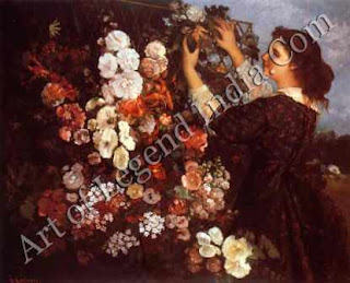 "The Great Artist Gustave Courbet Painting ""The Trellis"" 1863 43 ¼"" x 53"" Museum of Art, Toledo, Ohio"