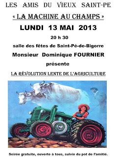 La révolution lente de l'agriculture.