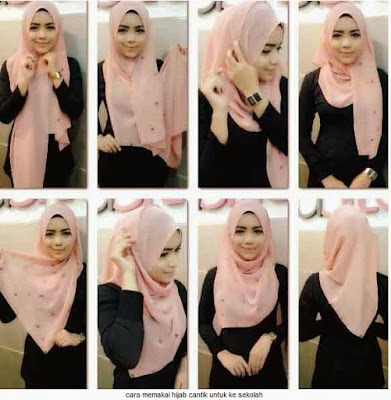 Tutorial Hijab Remaja Simple