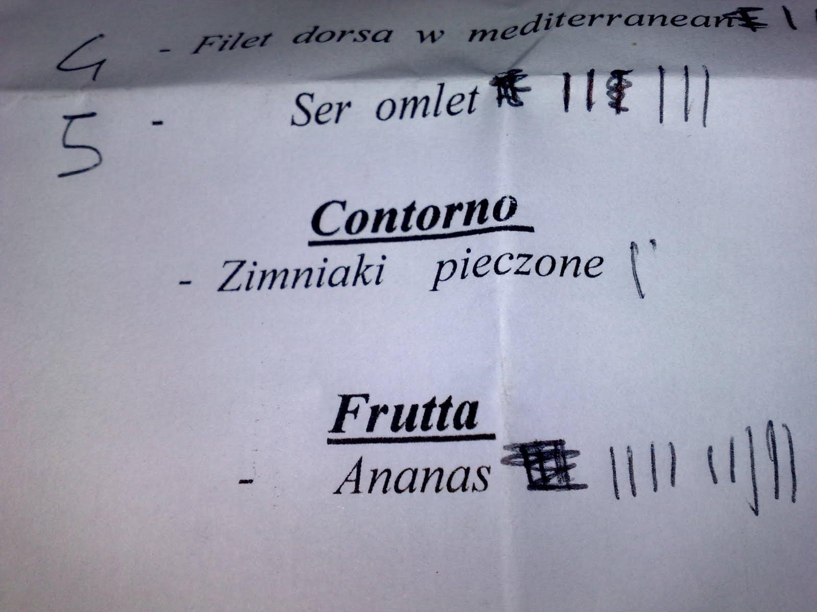 Filet dorsa w mediterranean; Ser omlet; Zimniaki pieczone