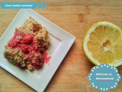 Welcome to Mommyhood: oven baked oats