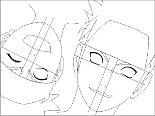 how to draw naruto face