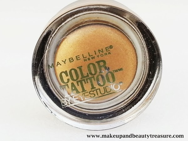 Maybelline Color Tattoo 24hr Eyeshadow Bold Gold Review