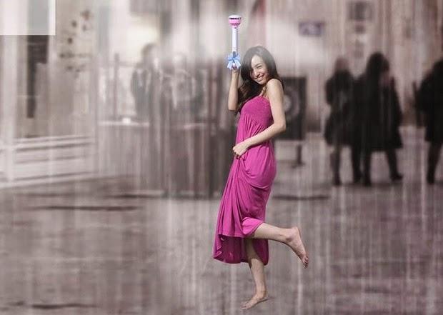 Air Umbrella, Payung Unik Tanpa Atap