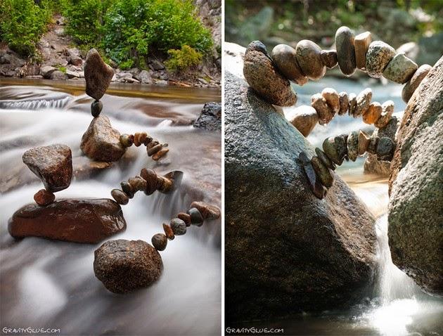 balanced rock sculptures