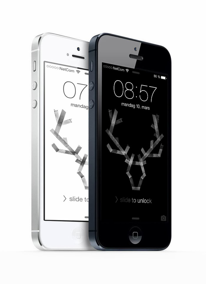Only Deco Love Wallpaper Iphone : Only Deco Love: Reindeer Antlers iPhone/iPad Wallpaper Giveaway