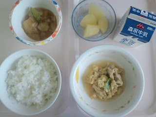 写真:術後6日目の昼食