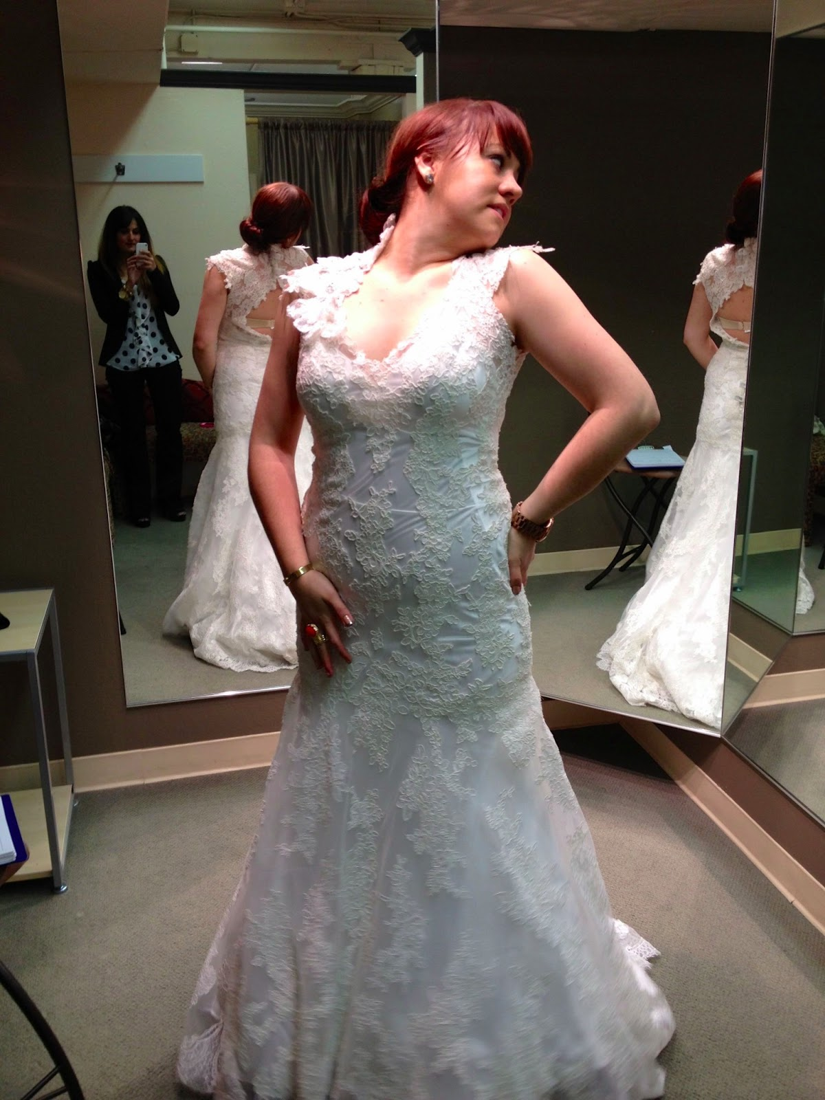 It's Because I Think Too Much - Adiel in Allure 8764 Wedding Dress