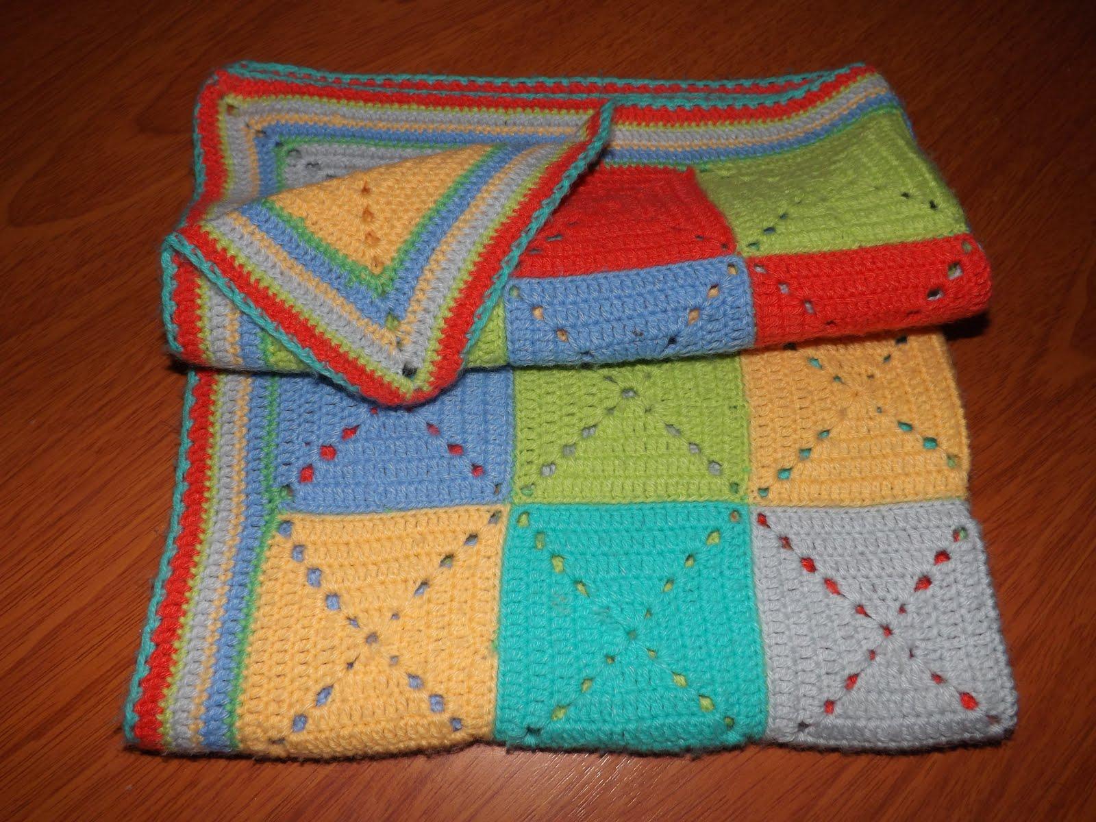 Tejido a crochet manta cuadros - Mantas lana ganchillo ...
