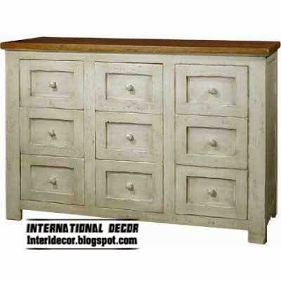 Provence style interior furniture drawer