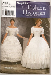Scarlett dress, hoop skirt, corset, simplicity 9764