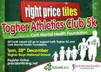 5k race in Cork City...Sun 28th Dec