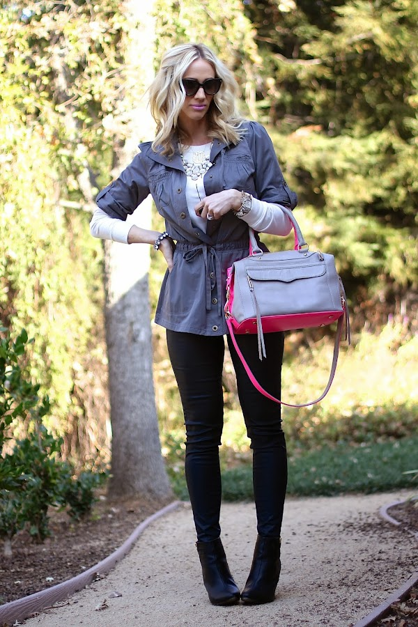 Rebecca Minkoff two tone handbag