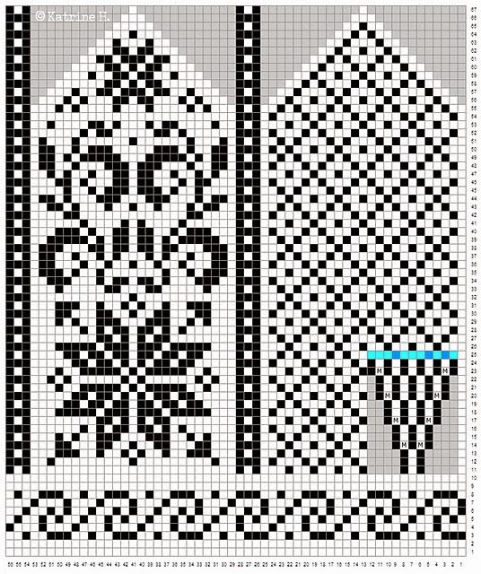 орнамент для варежек спицами схемы скачать