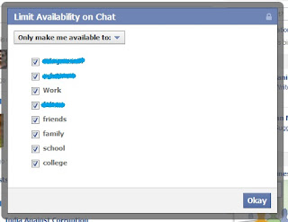 Limit Availability on Facebook Chat