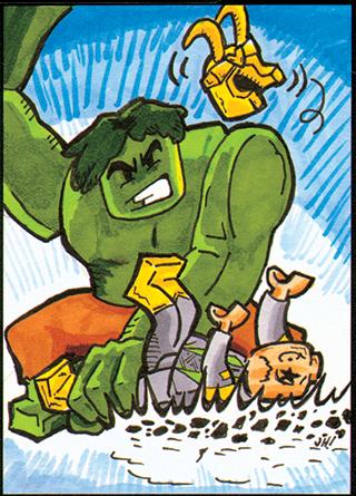 Hulk smash LEGO Loki