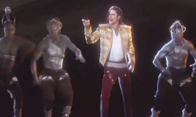 Michael Jackson 'LIVE' TV leaps from flat screen as 3D dancing, singing Hologram (VIDEO)