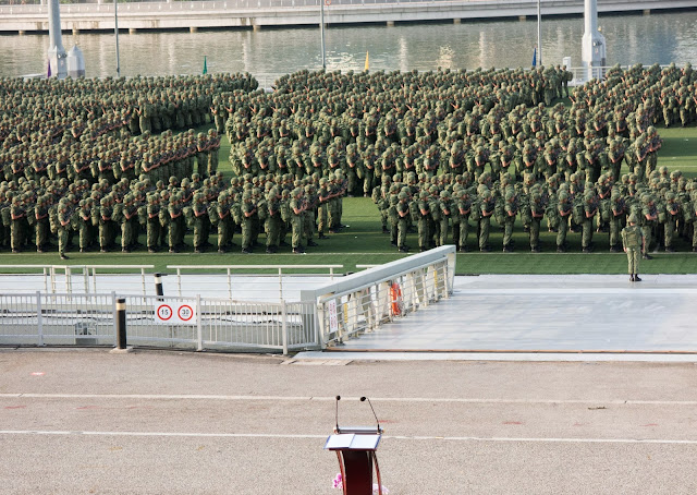 all the soldiers at attention