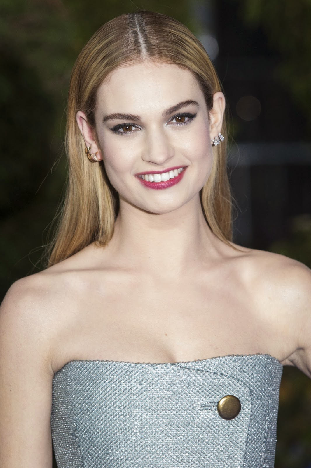 "Actress @ Lily James - ""Cinderella"" UK Premiere in London"