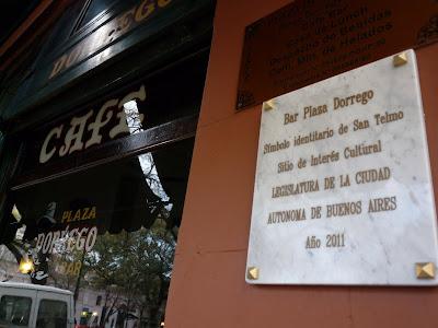 Bar Plaza Dorrego, Sitio de Interés Cultural