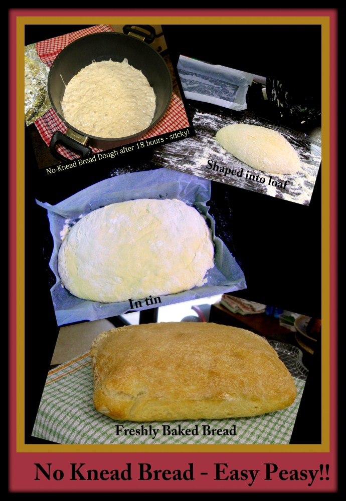 No Knead Bread Collage