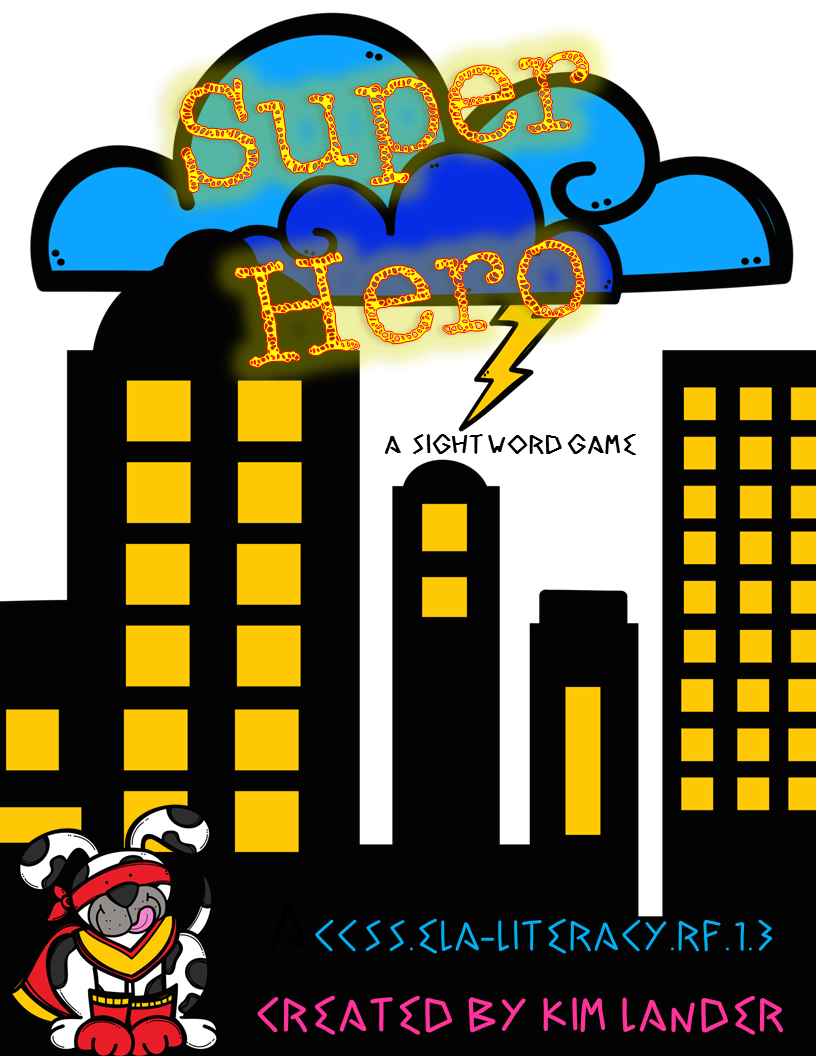http://www.teacherspayteachers.com/Product/Super-Hero-Sight-Word-Game-CC-Aligned-1420942