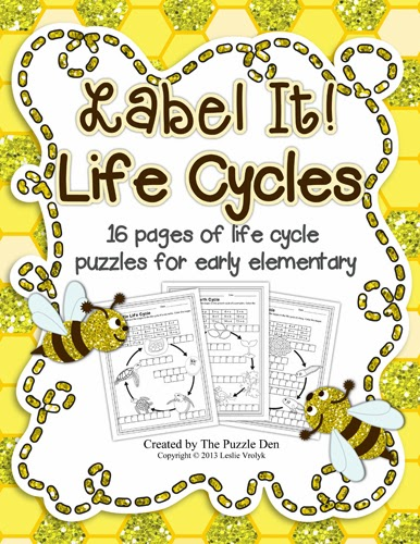 Label It! Life Cycles Puzzles for Early Elementary