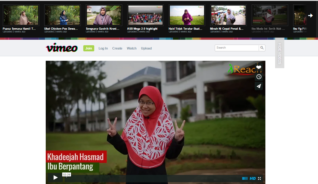 cara share video dari vimeo
