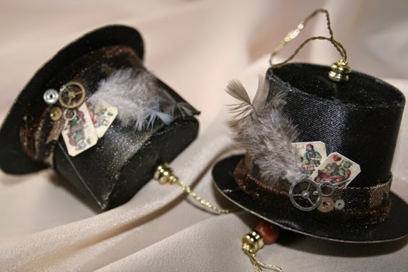 Steampunk Top Hat Ornaments - Carol Marion