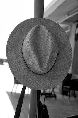 sombrero, paja, playa