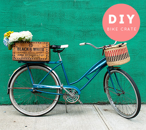 Muy cuqui diy cesta vintage para tu bicicleta - Cestas para bicicletas ...