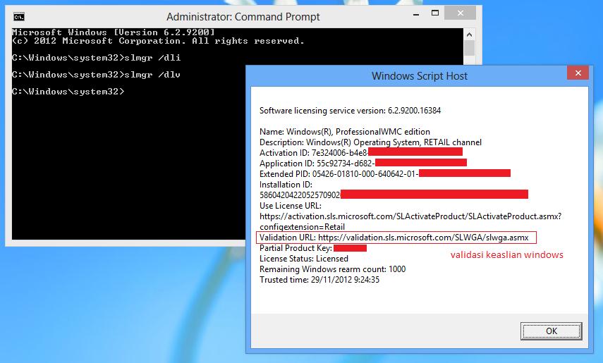 Perbedaan Windows 8 Genuine dan Bajakan