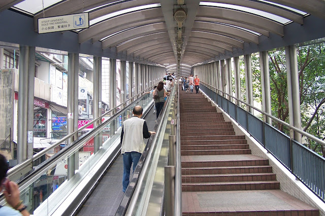 CENTRAL–MID-LEVELS ESCALATOR, HONGKONG