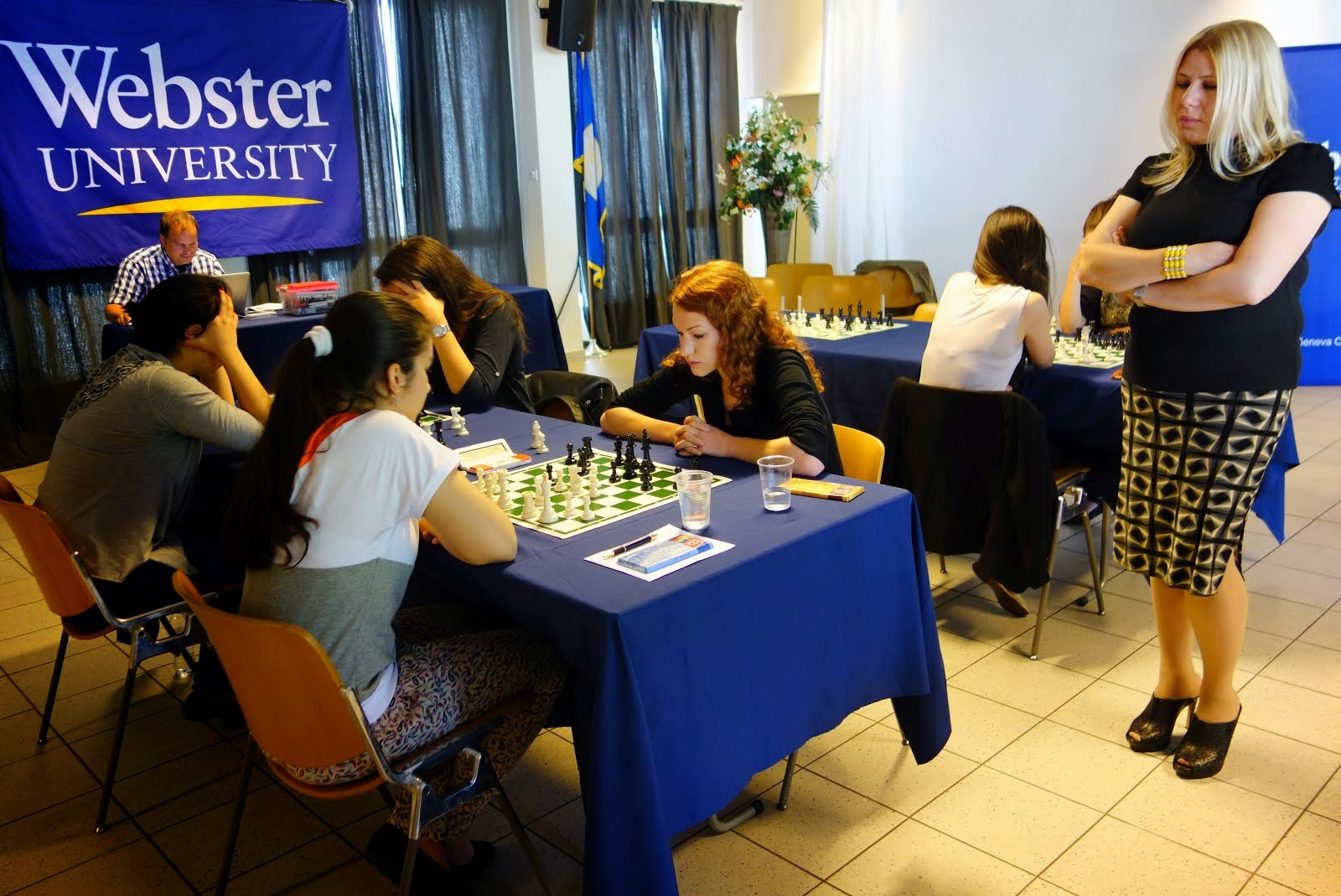 Photos & Final Results from 2014 WOM FIDE Chess for Top Girls Europe at Webster U - Geneva