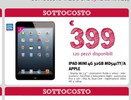 iPad Mini 32 GB 4G prezzo sottocosto 399 euro