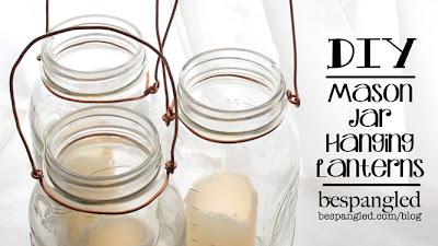 DIY Mason Jar Hanging Lanterns - for wedding or patio