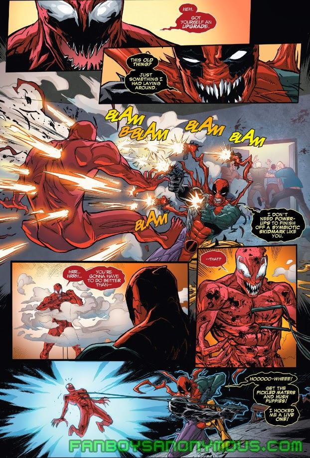 Follow Deadpool and Carnage's comic book history with Comixology on Android and iOS