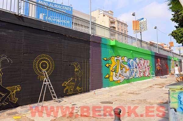 Graffitis Barcelona 2014