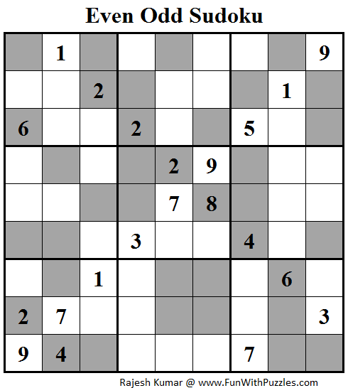 Even Odd Sudoku (Fun With Sudoku #88)